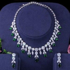 Image 4 - BeaQueen Luxuriöse Afrikanische Zirkonia Perlen Schmuck Set Nigerian Hochzeit Gelb Braut Schmuck Sets für Frauen JS091