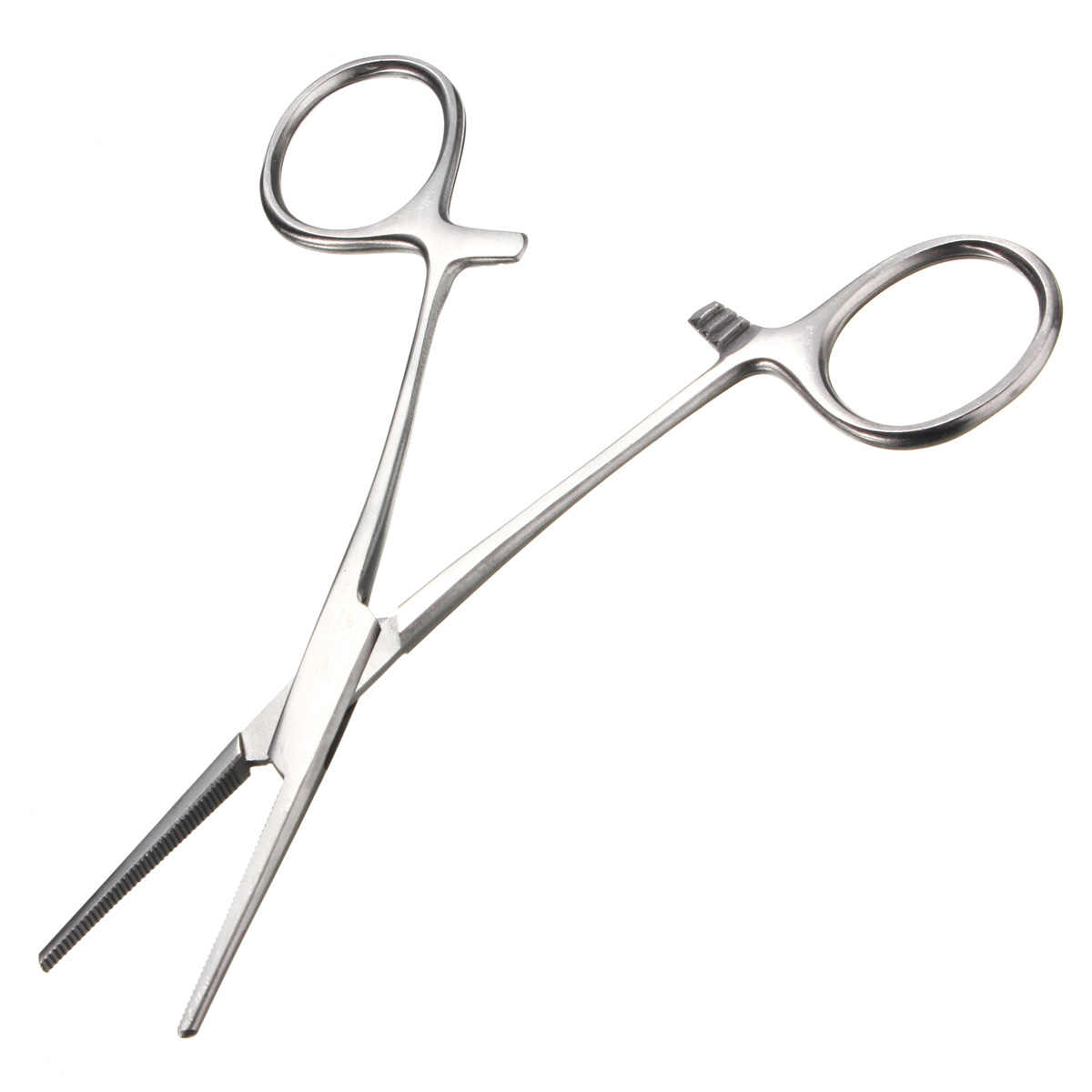 1pcs Dental Orthodontic Ligature Wire Orthopedic Instrument Stainless Steel Straight Tips Hemostat Forcep Locking Clamps Plier