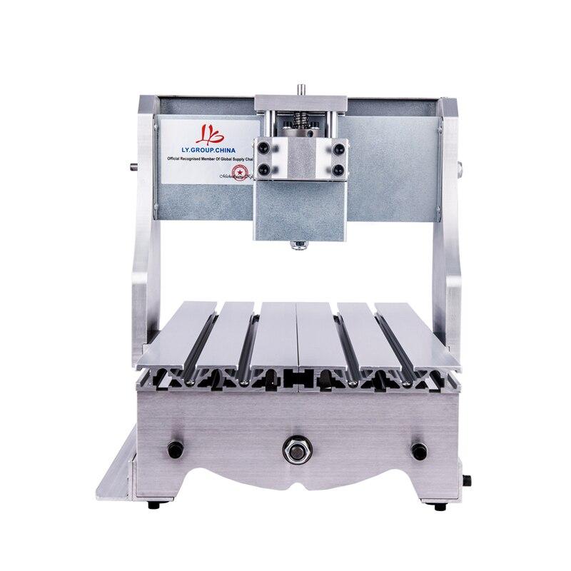 LY 52mm pince CNC cadre 3020 bricolage mini CNC kits de machine avec couplage de base de moteur pas à pas