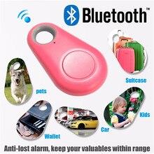 Mini Smart Label Bluetooth 4.0 Perdita di Tracker Bambino Anziani Del Raccoglitore Del Sacchetto di Pet Key Finder Localizzatore GPS Allarme