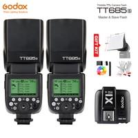 Godox TT685S GN60 TTL HSS 1/8000s Flash Light Speedlite + X1T S Trigger Transmitter for Sony A77II A7RII A7R A58 A99 A6300 A6500