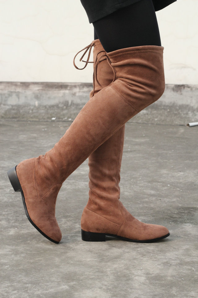 2018 women thigh high boots over the knee motorcycle boots winter and autumn woman shoes plus size 3-12 botas mujer femininas