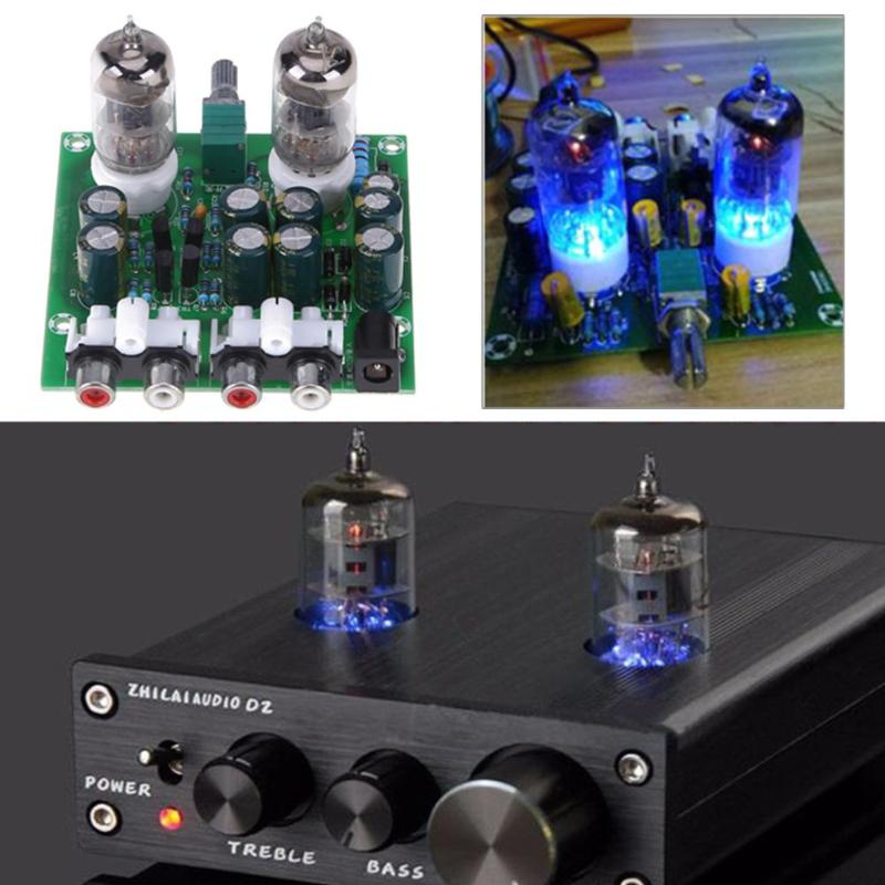 6J1 DIY <font><b>tube</b></font> amplifier kit HiFi Stereo Electronic <font><b>Tube</b></font> <font><b>Preamplifier</b></font> Board Amplifier Module Bile Amp Effect Parts image