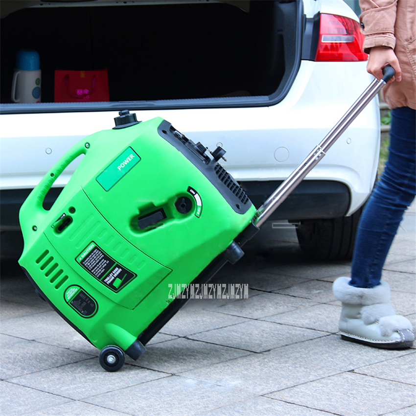 Small Household Car Outdoor Portable Gasoline Generator Low Noise Gasoline Generator Digital Inverter Generator 110V/220V 2600W