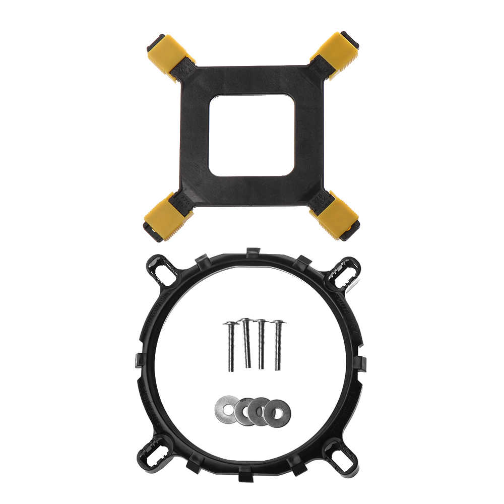 1 комплект cpu кулер Монтажный кронштейн вентиляторы для ПК держатель радиатора база настольная материнская плата крепление вентилятора для 1150 1156 1155 775 1366