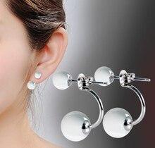 Fashion silver plated stud earrings female models opal jewelry gift wedding hotel nightclub women's jewelry E0431