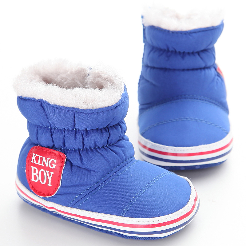 0-18Months Baby Boy Winter Warm Snow Boots Slip-Up Soft Sole Shoes Infant Toddler Kids