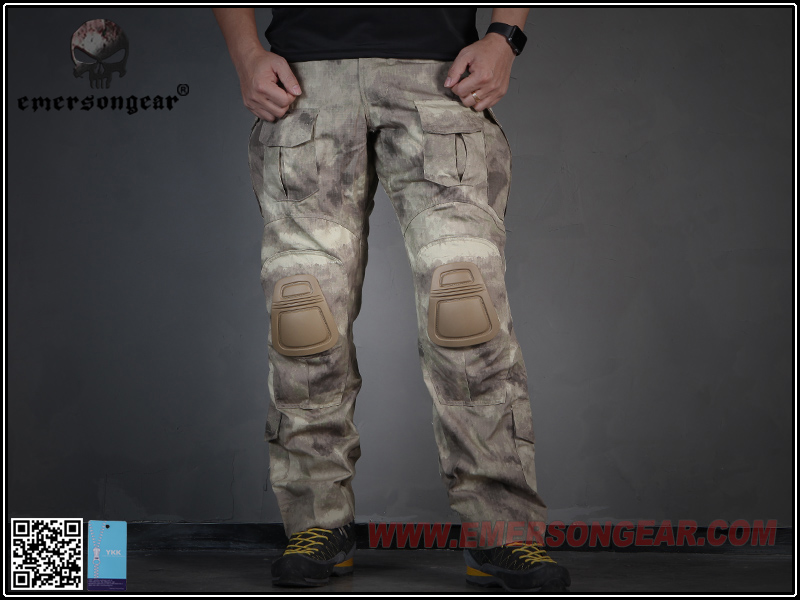 EMERSON Airsoft BDU Pants Combat Tactical Pant Nylon Men Military And Outdoor Hunting With Knee Pad Sandstorm EM7040 emersongear g3 combat shirt pants military bdu army airsoft tactical gear paintball hunting uniform bdu atacs au emerson