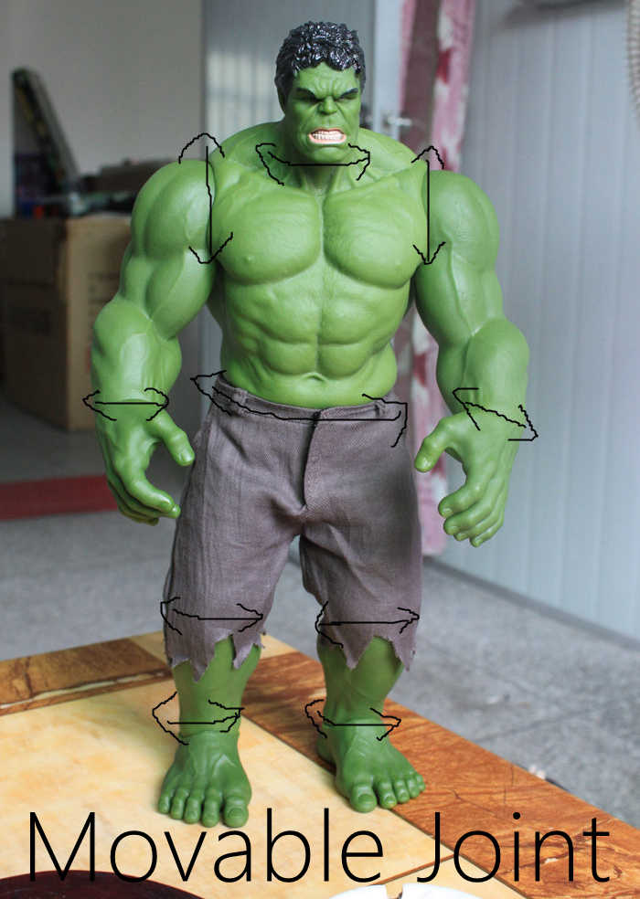 Горячий Халк из «невероятных Мстителей» Железный человек Халк Бастер халкбастер 42 см ПВХ игрушки фигурка Hulk Smash