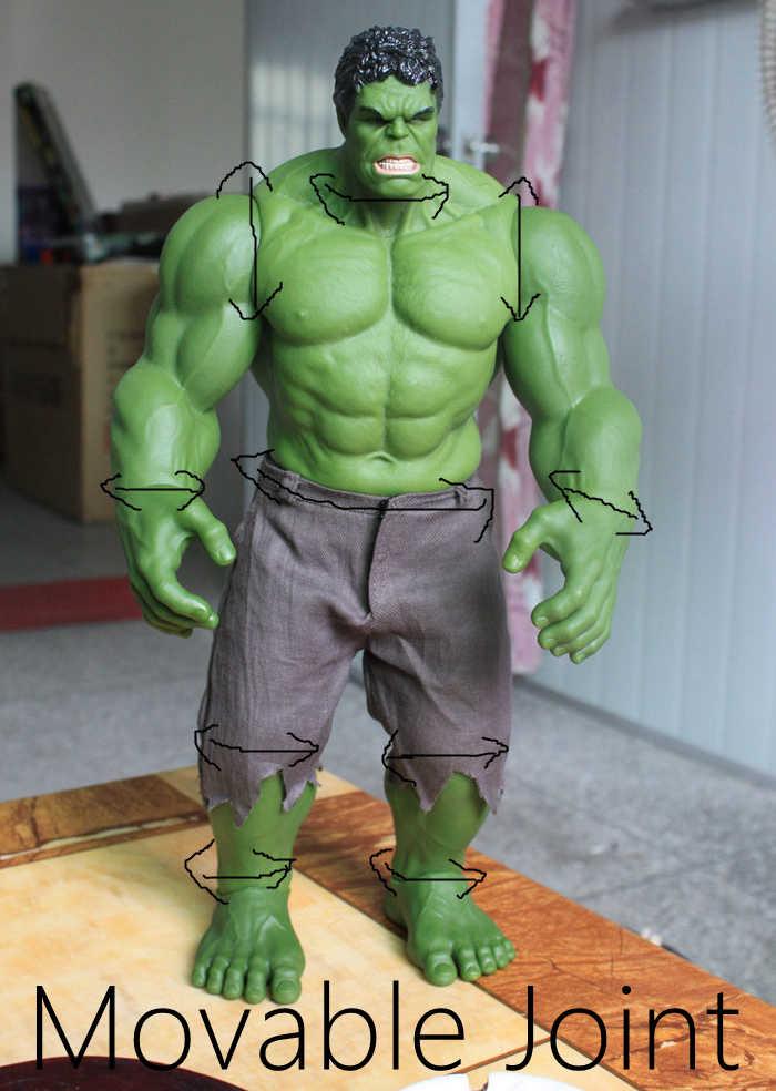 Hot Avengers Incredible Hulk Homem De Ferro Hulk Buster Hulkbuster 42CM PVC Brinquedos Figura de Ação Hulk Smash