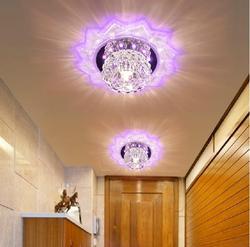 Colorpai klosz światła sufit kryształ 5 W sypialnia/foyer okrągła lampa sufitowa led lampy do dekoracji domu nowoczesne akrylowa lampa