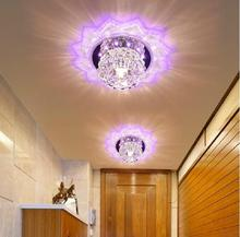 Colorpai lampshade crystal ceiling light 5W bedroom/foyer ceiling light round led home decoration lamps modern acrylic lamp