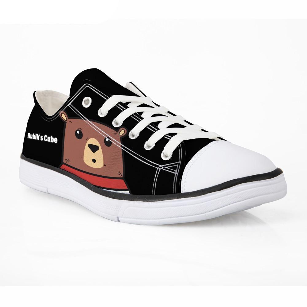 Noisydesigns Cartoon Männer Casual Vulkanisieren Schuhe Klassische Schwarze Segeltuchschuhe Für Junge Studenten Freizeit Low-top Schnürung Flache Schuhe Mann Geschickte Herstellung Vulkanisierte Herrenschuhe Schuhe