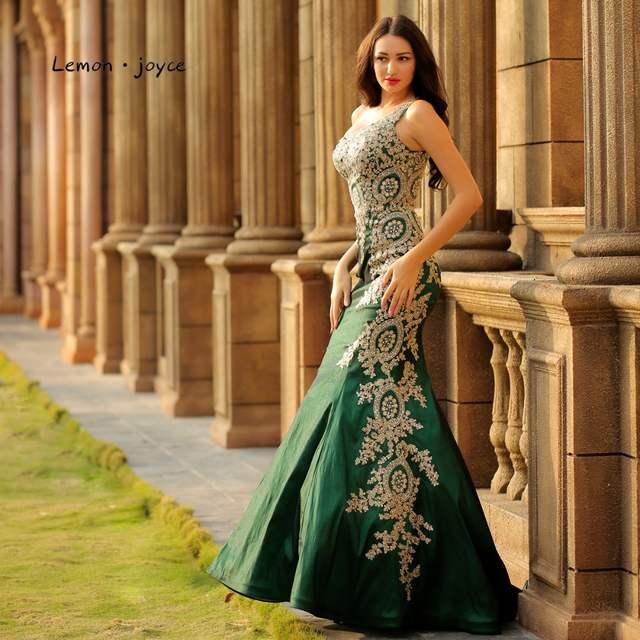 969f7dcee1 Lemon joyce Formal Mermaid Evening Dresses Long 2019 One-Shoulder Appliques  Sexy Prom Party Gown Plus Size Robe de Soiree