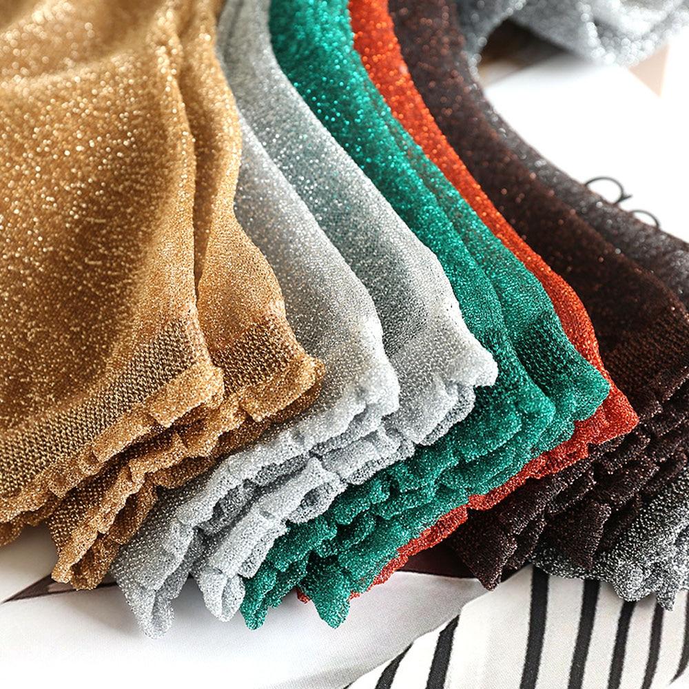 Glitter Ankles Socks Fashion Women Spring Summer Shiny Thin Casual Short Socks
