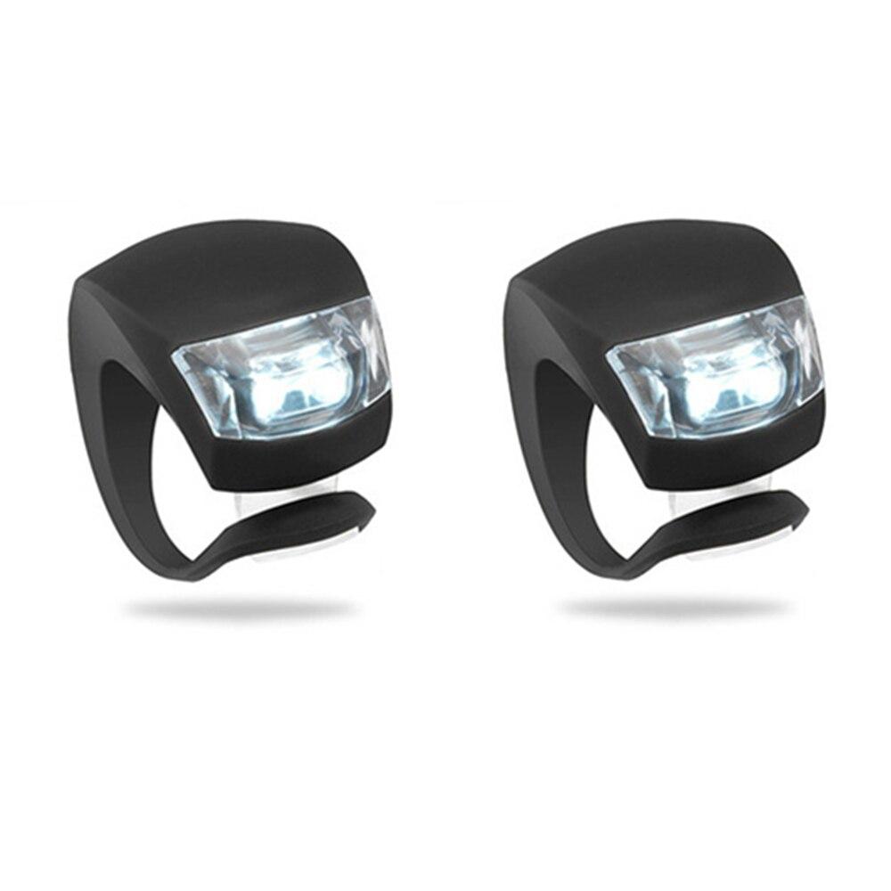 2 PCS Bike font b Bicycle b font Cycling Head Front Rear Wheel LED Safty Warning