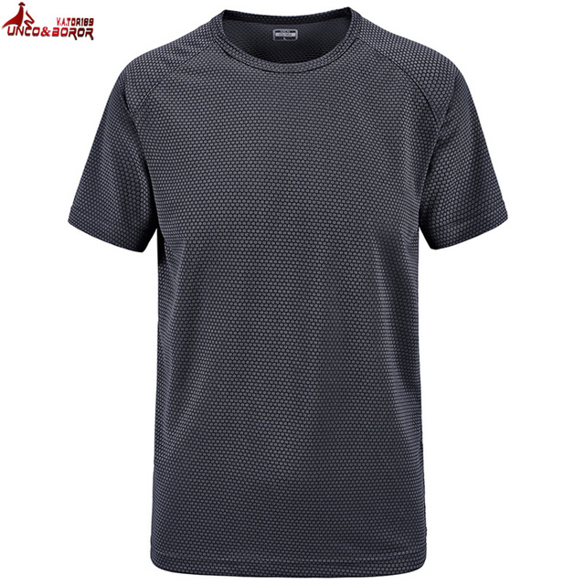 UNCO BOROR plus size M 6XL 7XL summer Brand Tops Tees Quick Dry Slim Fit T-shirt Men sporting Clothing Short sleeve t shirts