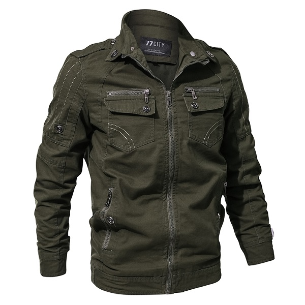 Men Military Army Jacket Spring Air Force Pilot Cargo Tactical Jacket Man Outdoor Autumn Cotton Bomber