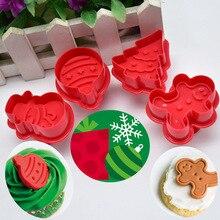 4 шт выпечки резак плесень Плунжер для помадки торт Печенье Кондитерские изделия Кухня E2S