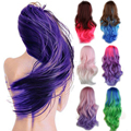 """24"""" 60cm Fashion Multicolor Hair Long Curly Wavy Synthetic Wig 100% Thick & Soft Women's Cosplay Anime Full Head Wigs Hot"""