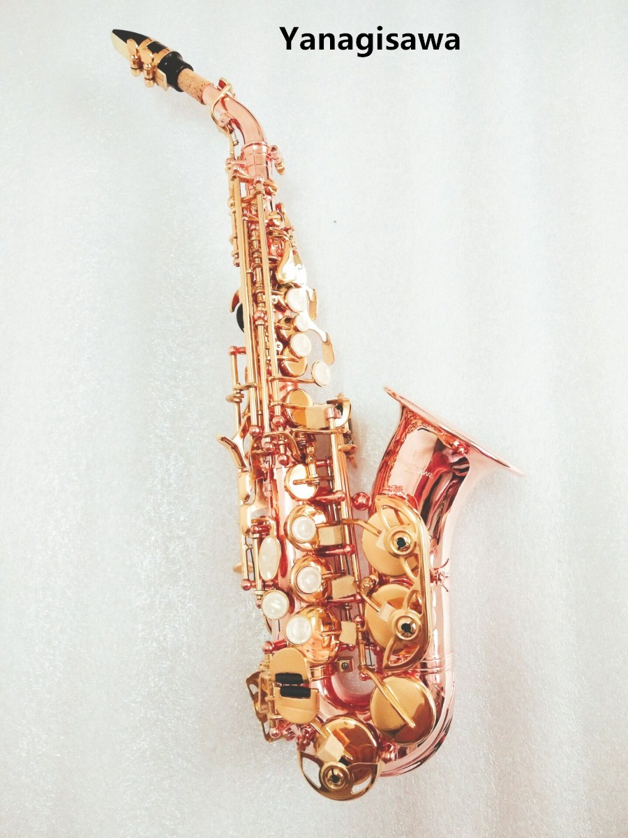 2018 New Japan Yanagisawa Soprano Saxophone Bb Phosphorus red copper Sax SC-992 Yanagisawa Musical Instrument Promotions yanagisawa soprano s 902 saxophone bb nickel plated gold key professional sax mouthpiece with case and accessories