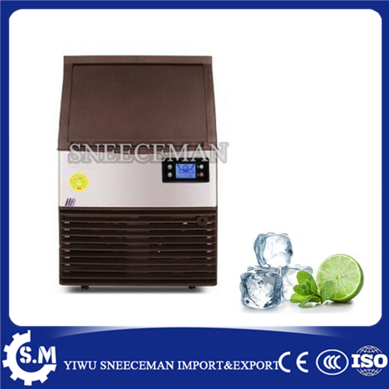 60kg/24h Automatic ice Maker Household ice cube making machine for commercial use for bar for coffee shop edtid 12kgs 24h portable automatic ice maker household bullet round ice make machine for family bar coffee shop eu us uk plug