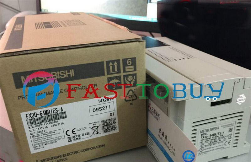 NEW FX3U-64MR-ES-A PLC 100-240V AC 32DI 32DO Relay Original with Programing Cable One Year Warranty  цены