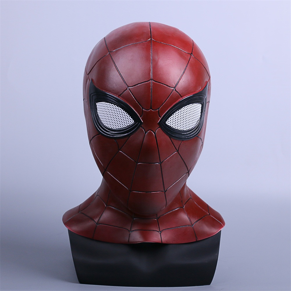 2018 Avengers 3 Infinity War Spiderman Mask Cosplay Iron Spiderman 3D Latex Mask (2)