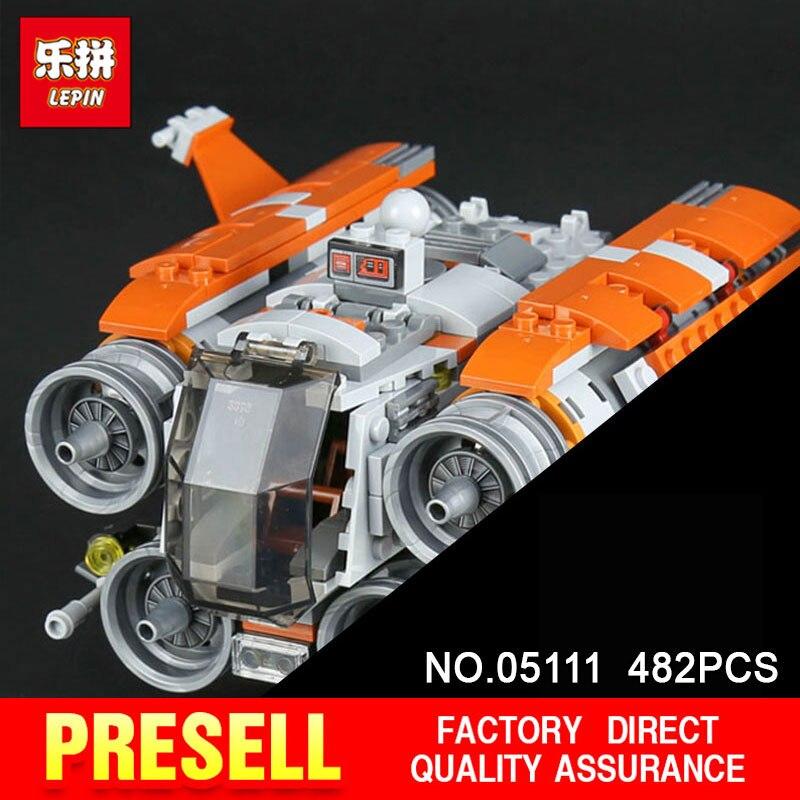 Lepin 05111 482Pcs Star Genuine Stunning Wars The Jakku Quadjumper Set Children Building Blocks Educational Toys Model 75178 6es5 482 8ma13