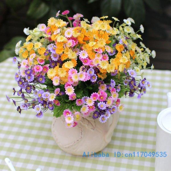1 PCS Bouquet Beautiful Artificial Mini Daisy Chrysanthemum Silk ...