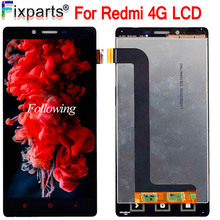 цены на For Xiaomi Redmi Note 4G LCD Display Touch Screen Digitizer Assembly Replacement 1280x720 For 5.5