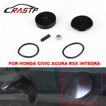 RASTP - New Arrived Aluminum Car Rear Wiper Delete Kit Plug Cap For Honda Civic Si Acura RSX Integra/3Dr Hatchback EG6 RS-ENL016 new ignition distributor for acura integra for honda civic gs r 1 8l 1 6l dohc