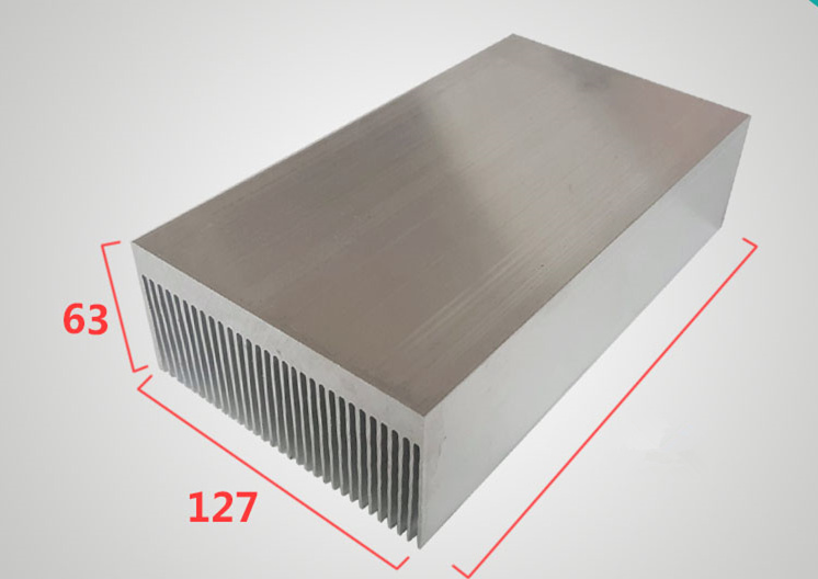 127 63 100 200 300mm High Power Aluminum Profile Dense Teeth High Power Radiator Width 127