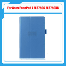3 in 1,Stand PU Leather Case Cover For Asus FonePad 7 FE375CG FE375CXG FE7530CXG FE375 K019 tablet case +Screen Protector+Stylus