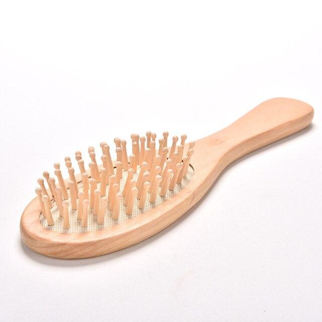 Yüksek Kalite 1 Pcs Masaj ahşap tarak Bambu Saç Havalandırma Fırça Fırçalar Saç Bakımı ve Güzel spa masaj aleti Toptan