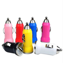 10 pcs single colorful USB Universal Car Charger  For iPhone 5 4 4S for iPad Mini for Galaxy S3 S4 i9500 all Cell Phone