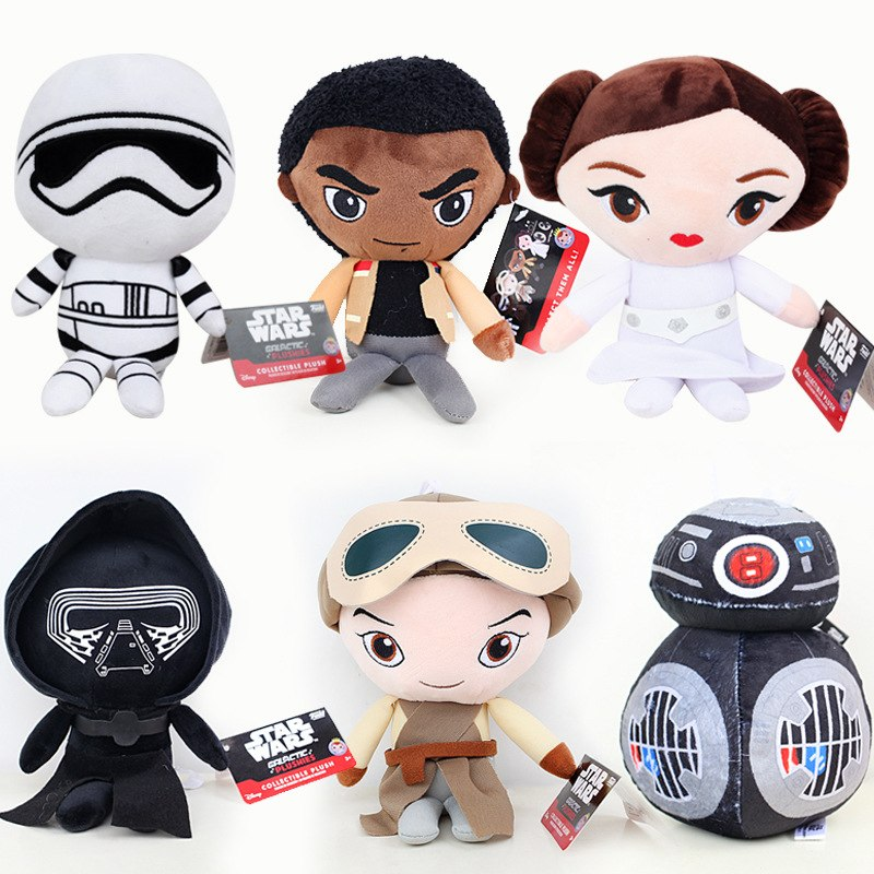 20cm Star Wars 7 The Force Awaken BB8 Plush Toys BB-8 Droid Robot R2D2 Darth Vador Storm Trooper Stuffed Doll Toys For Children