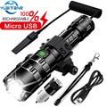 60000LM linterna Led más poderoso antorcha L2 luz táctica modo 5 Scout luz LED lanterna luz de la bicicleta por batería 18650