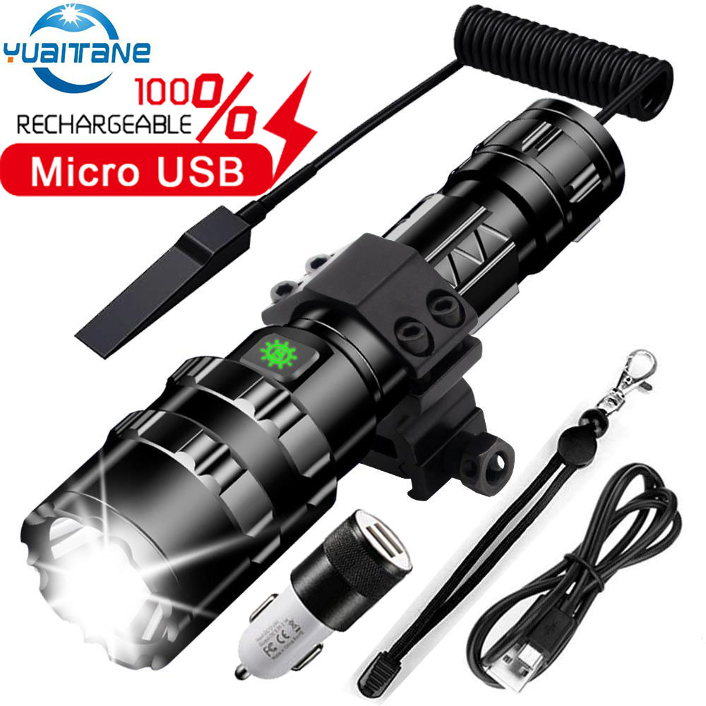 Led Flashlight Most Powerfull Torch L2 Tactical Light 5Mode Scout Light LED Lanterna Bicycle Light By 18650 Battery