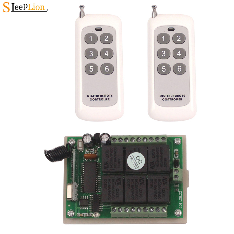 Sleeplion 12V 6CH Remote Switch 315/433MHz With Remote Control Relay Switch 12V Relay Module 6CH Module Board BoxSleeplion 12V 6CH Remote Switch 315/433MHz With Remote Control Relay Switch 12V Relay Module 6CH Module Board Box