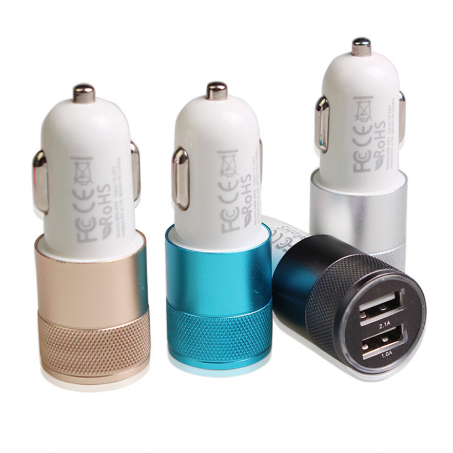 2.1A 12V Dual USB Car Cigarette Lighter Socket Splitter Charger Power Adapter Outlet High Quality 12v metal 3 in 1 dual usb motorcycle cigarette lighter plug cigarette lighter socket splitter outlet for motorcycle