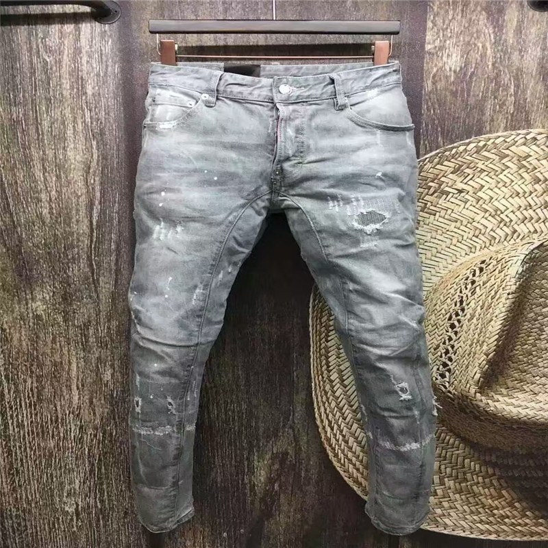 ФОТО New Style Men 's Jeans For Jeans Classic Men' s Fashion High Quality Skinny Jeans Men Trousers Biker Skinny Jeans Full Length