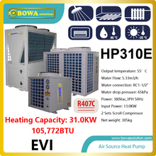 31KW or 110,000BTU -25'C  air source water heat pump heater  for factoyr, please consult shipping costs with seller
