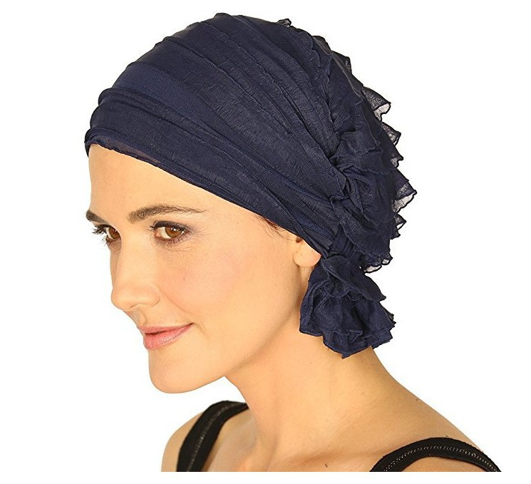 New Chiffon Durags Turban Bandanas Tichel for Cancer Ladies Headwear Women Headscarf Chemo Hat Turbante Head Scarves Pre-Tied