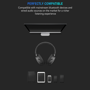 Image 2 - kebidu Wireless Bluetooth Headphone with microphone Bass HiFi Sound studio headset for music and phones support voice control