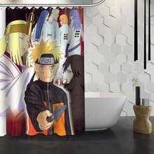 Custom Naruto Anime Shower Curtain Waterproof Fabric Shower Curtain for Bathroom