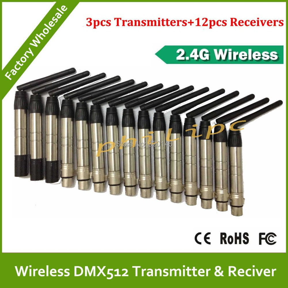 DHL/EMS Free Shipping Professional 2.4Ghz Wireless DMX512 transmitters  receivers,Wireless led par kit,Wireless dmx console 2 receivers 60 buzzers wireless restaurant buzzer caller table call calling button waiter pager system