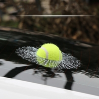 Car Styling 3D Car Sticker Football Basketball Tennis Baseball Hit The Glass For Ford Focus Volkswagen