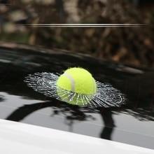 Aliauto Car-styling 3D Car Sticker Football Basketball Tennis Baseball Hit Window For Ford Focus VW Golf Mercedes BMW Renault