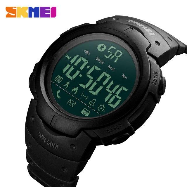 Männer der Sport Smart Uhr SKMEI Marke Mode Schrittzähler Remote Kamera Kalorien Bluetooth Smartwatch Erinnerung Digitale Armbanduhren